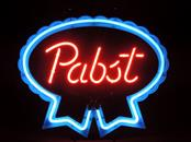 Classic PBR Pabst Blue Ribbon Beer Neon Sign VINTAGE